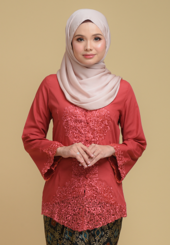 Kebaya Mulan - Pink Guava (Top only)